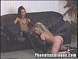 Montana Gunn rides Phoenixxx with a dildo
